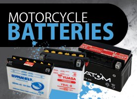 Motorcycle batteries banner