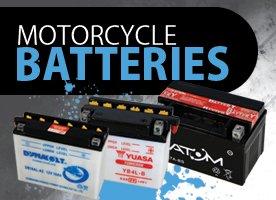 Motorcycle batteries banner