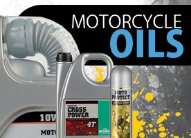 Motorcycle oil banner